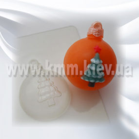Пластиковая форма Шар Елка