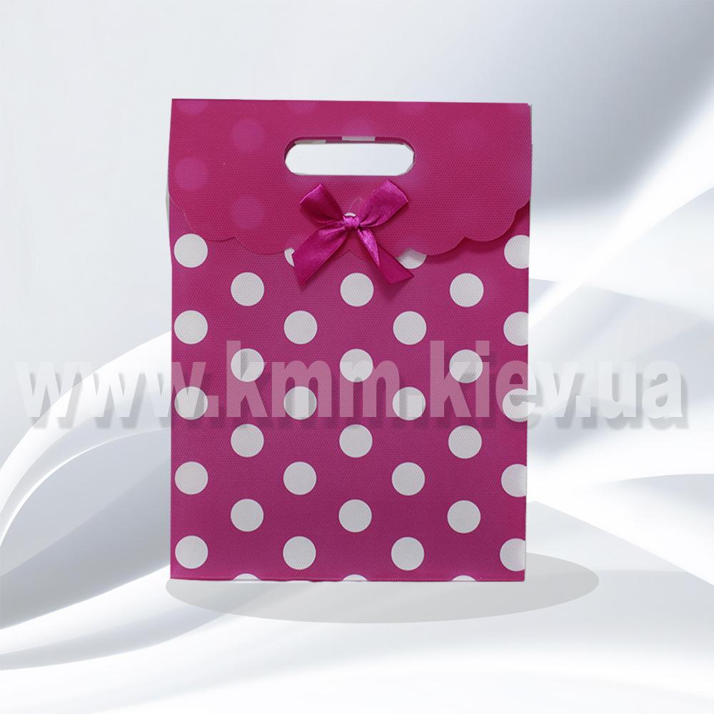 Пакет Розовый в горошек