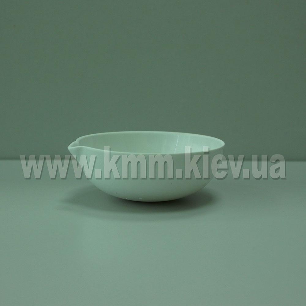 Чаша испарительная круглодонная фарфоровая с носиком