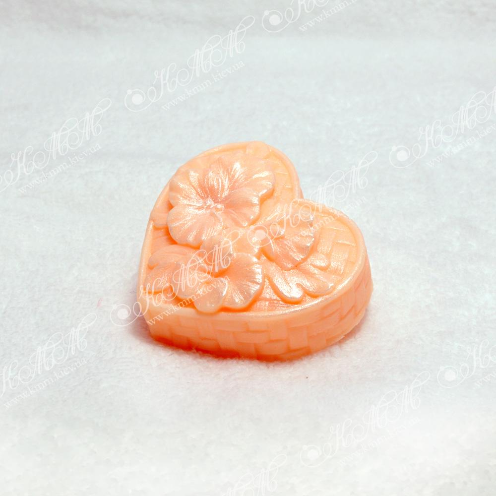 Мыло Сердечко цветов - оранжевое