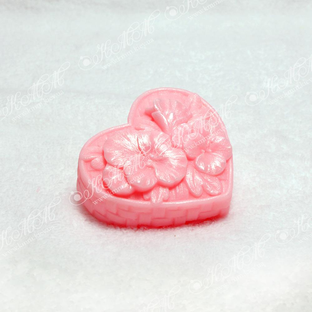Мыло Сердечко цветов - розовое