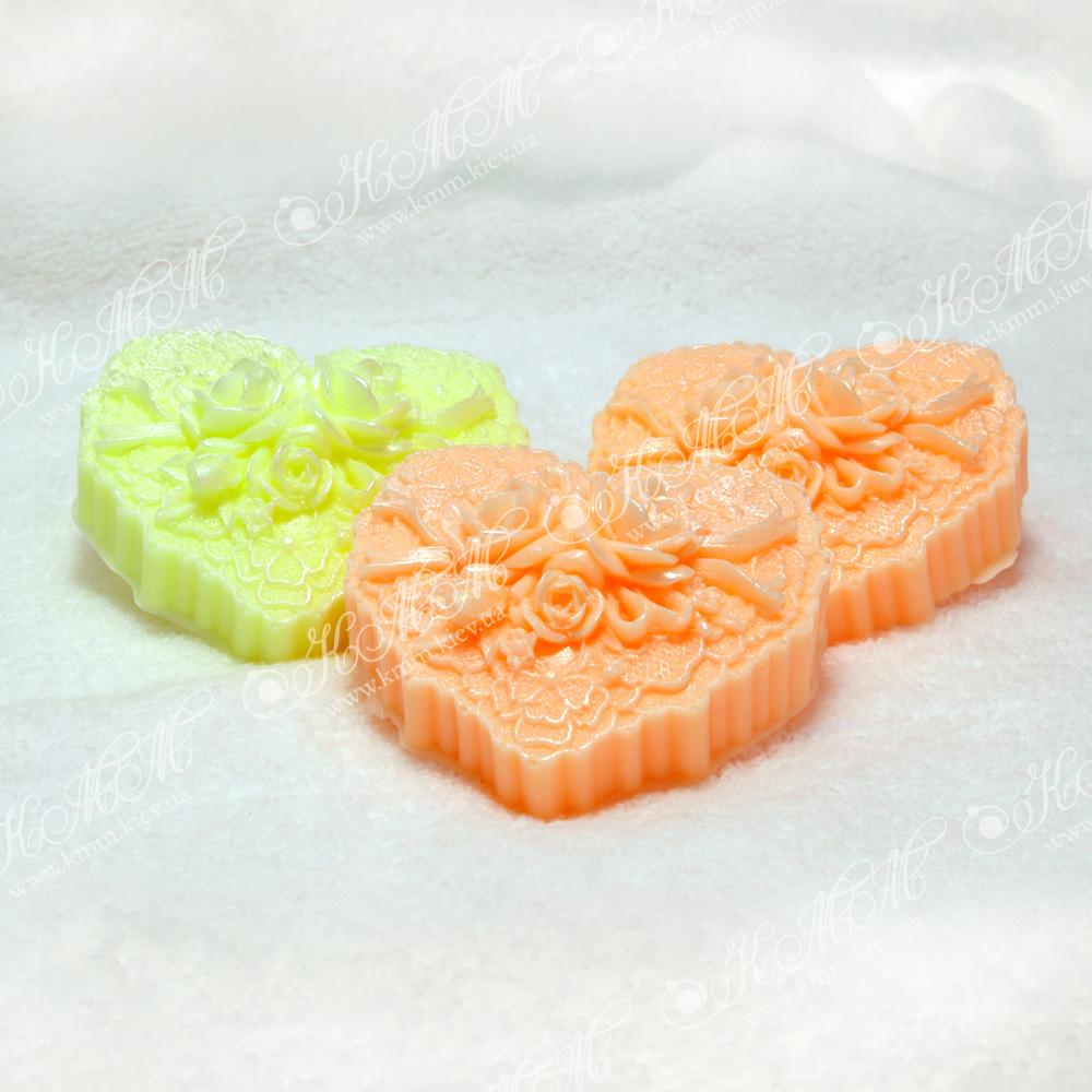 Мыло ручной работы Сердечко с розами