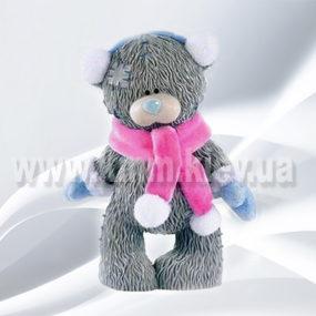 """Силиконовая форма люкс """"Тедди в шарфе и в варежках 3D"""""""