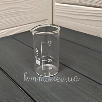 Стакан мерный стеклянный 50мл