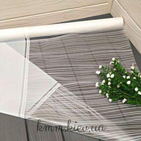 Пленка для цветов Белая матовая с прозрачным окном и полоской 1м
