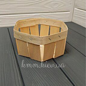 Корзина из букового шпона шестиугольная 120х120х70мм