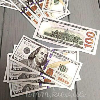 Сувенирная валюта 100 долларов