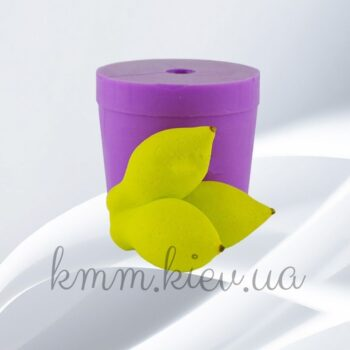 Силиконовая форма люкс 3D Лимоны тройник