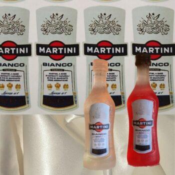 Наклейка этикетка на бутылку Мартини Martini