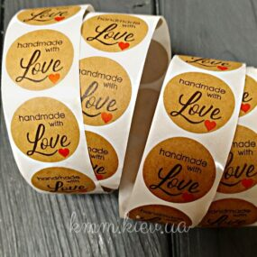 Наклейка Handmade with love 1