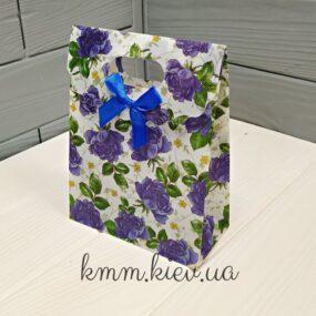 Пакет Синие цветы 160ммх125мм