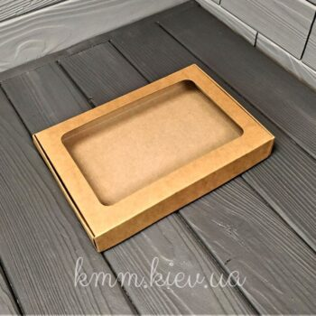 Коробка прямоугольная с прозрачным окном 150х110х30мм в ассортименте