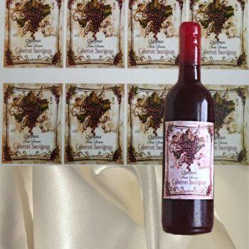 Наклейка этикетка на бутылку вина Каберне Савиньон