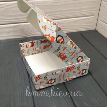 Коробка Новогодняя Санта 150х150х50мм