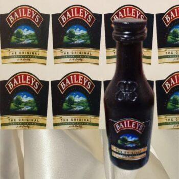 Наклейка этикетка на бутылку ликера Baileys Бейлис