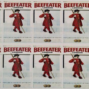 Наклейка этикетка на бутылку Beefeater