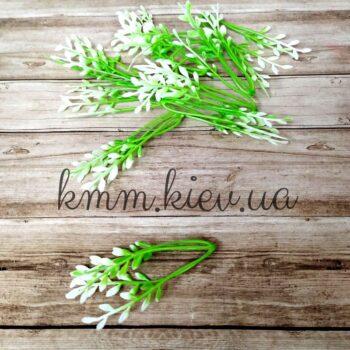 Декоративная добавка на стебель белый лист Польша