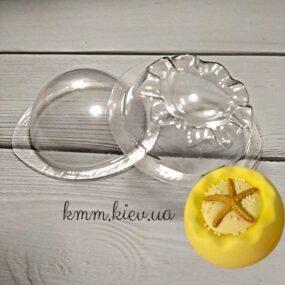 Форма пластиковая для бомбочек Чаша Волна Д 60мм