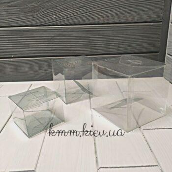 Коробка квадратная пластиковая самосборная