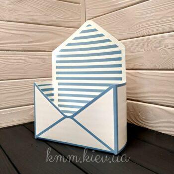 коробка-конверт в полоску
