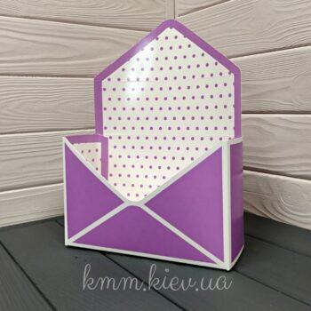 Коробка - конверт в горошек