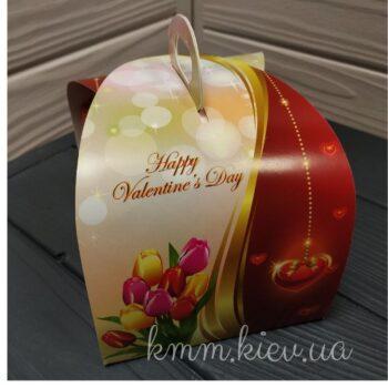 Бонбоньерка Happy Valentine's Day День Св Валентина 110х110х110мм