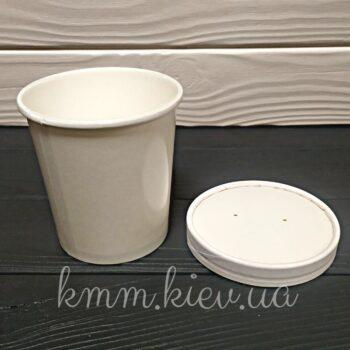 Супник белый с крышкой 100х95мм