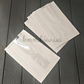 Пакет бумажный с прозрачной вставкой