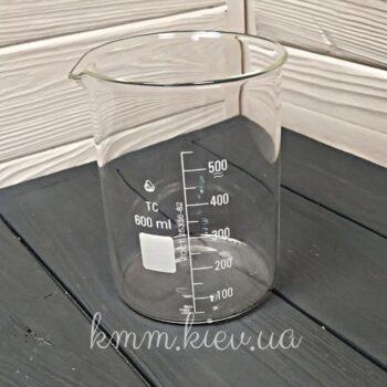 Стакан мерный стеклянный низкий 600мл