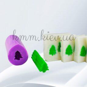 Силиконовая форма люкс 3D Елочка для брускового мыла