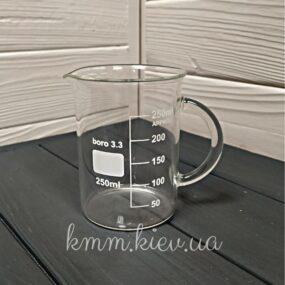 Кружка мерная стеклянная с ручкой 250мл