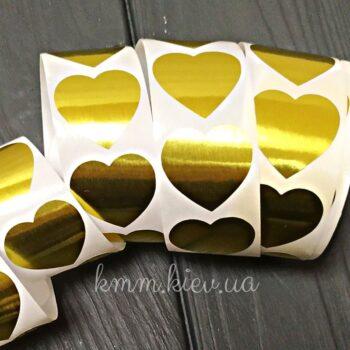 Наклейка Сердце золото 10шт