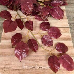 Декоративная ветка листьев розы