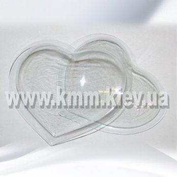 Пластиковая форма для бомб Сердце большое