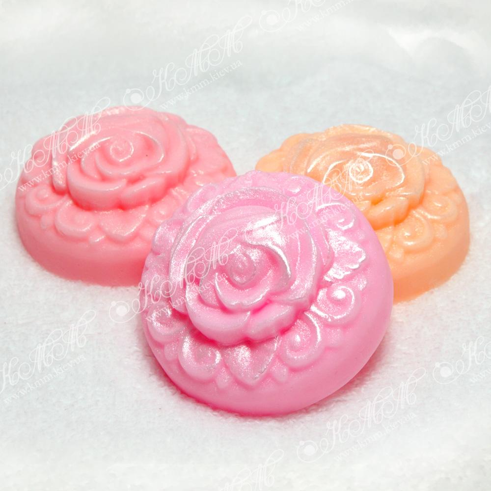 Мыло ручной работы Роза на кругу
