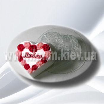 Пластиковая форма Люблю