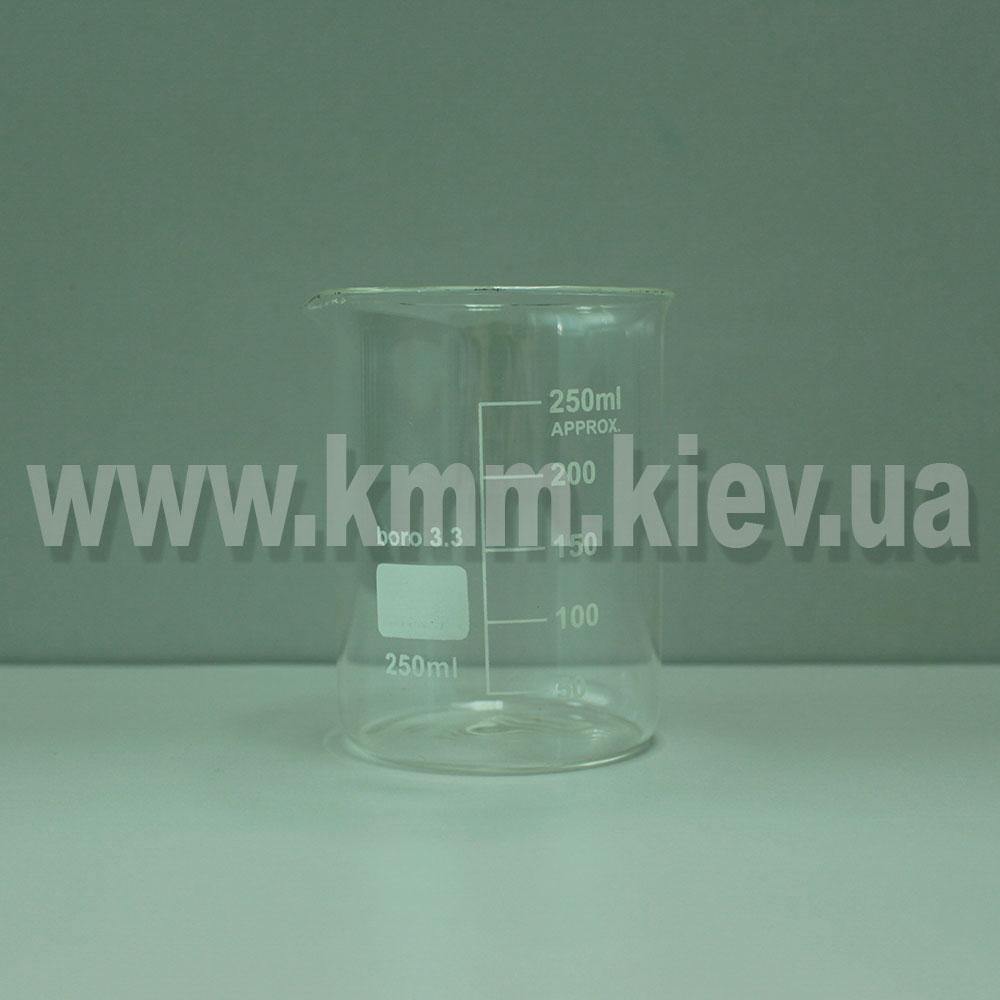 Мерный стакан стекляный термостойкий 250 мл (низкий)