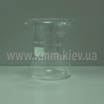 Мерный стакан стекляный термостойкий 800 мл (низкий)