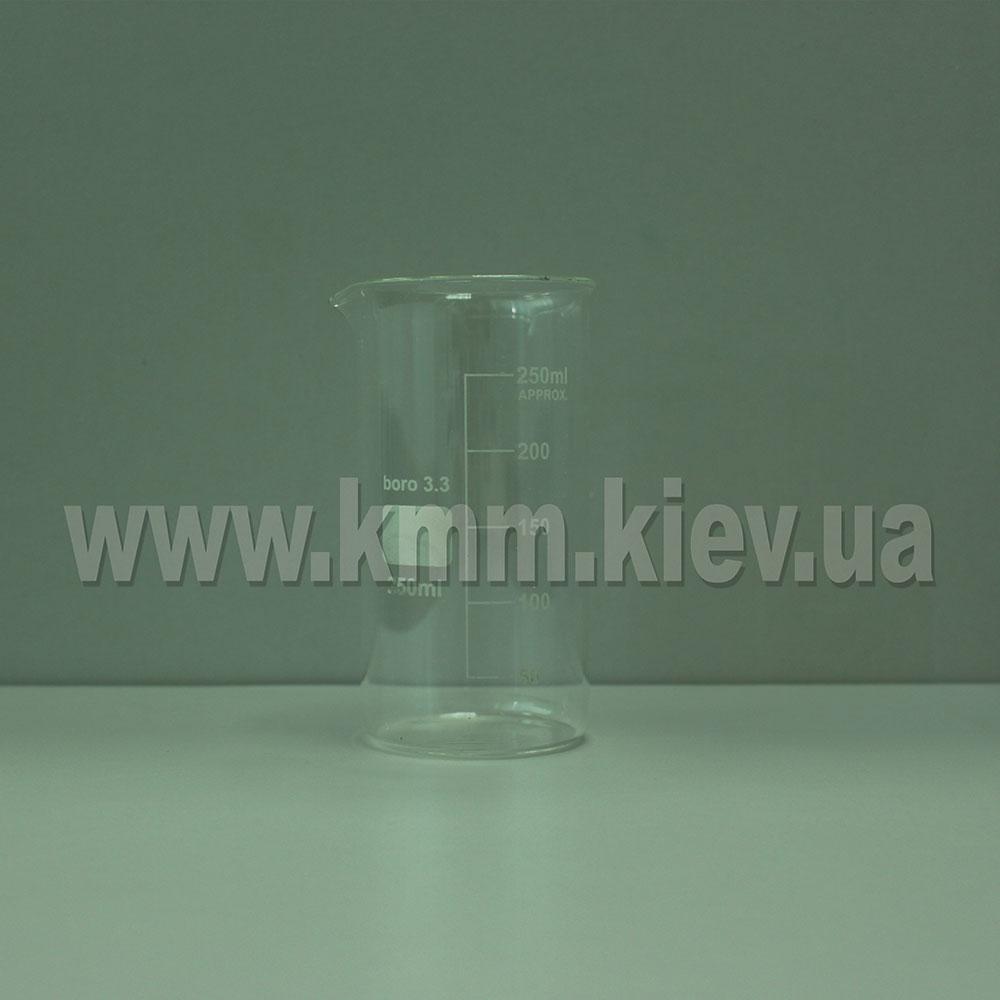 Мерный стакан стекляный термостойкий 250 мл (высокий)