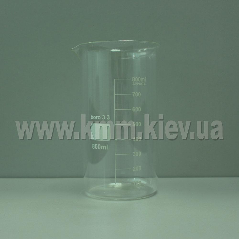 Мерный стакан стекляный термостойкий 800 мл (высокий)